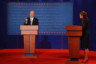 Illustration for article titled Liveblogging The VP Debate!