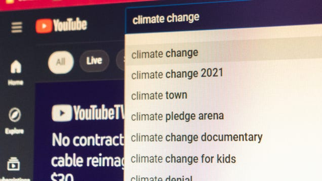 Google's Going to Stop Letting YouTubers Make Money Off Climate Change Denial