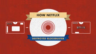 Illustration for article titled Visualization: How Netflix Beat Blockbuster