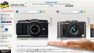 Illustration for article titled Camera Size Shows You How Bulky or Compact Digital Cameras Really Are