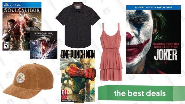 Saturday s Best Deals: Joker, Soulcalibur IV, Short-Sleeve Button-Ups, and More
