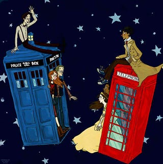 Illustration for article titled The Doctor and the Ponds finally meet Inspector Spacetime