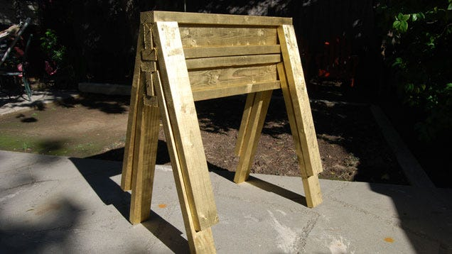 Build Stackable Sawhorses From Scrap Lumber In Under 10