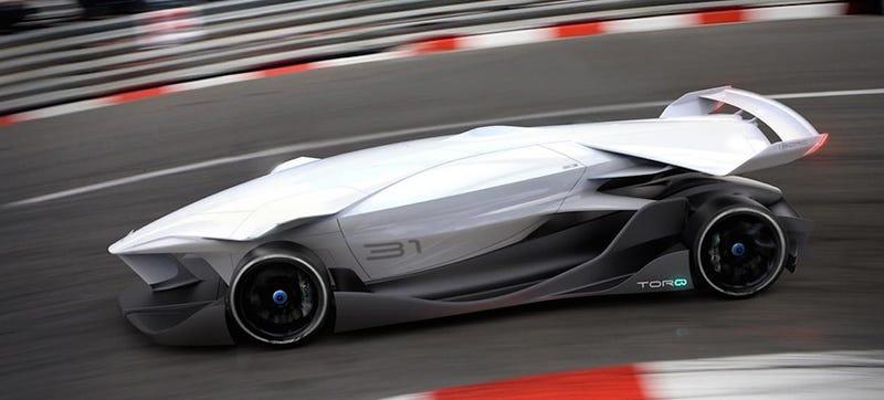 Illustration for article titled This Windowless Autonomous Racer Promises A 4-Minute Le Mans Lap
