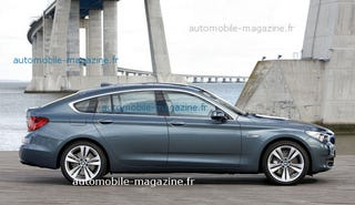 Illustration for article titled BMW 5-Series GT: First Press Photos Reveal Seriously Big Butt