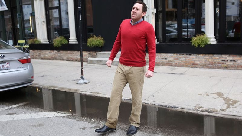 Illustration for article titled Experts Warn Climate Change Will Increase Incidences Of Stepping Into Puddle And Getting Whole Goddamn Foot Soaking Wet