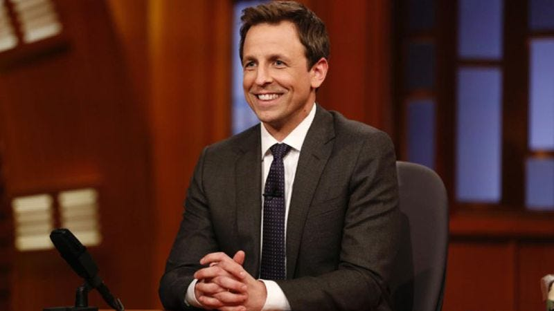 Illustration for article titled Seth Meyers agrees to be on TV for at least another five years