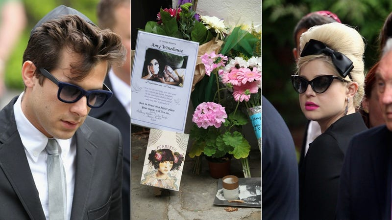 Illustration for article titled Stars Turn Out For Amy Winehouse's Funeral, Father Says She Was Happy & Sober