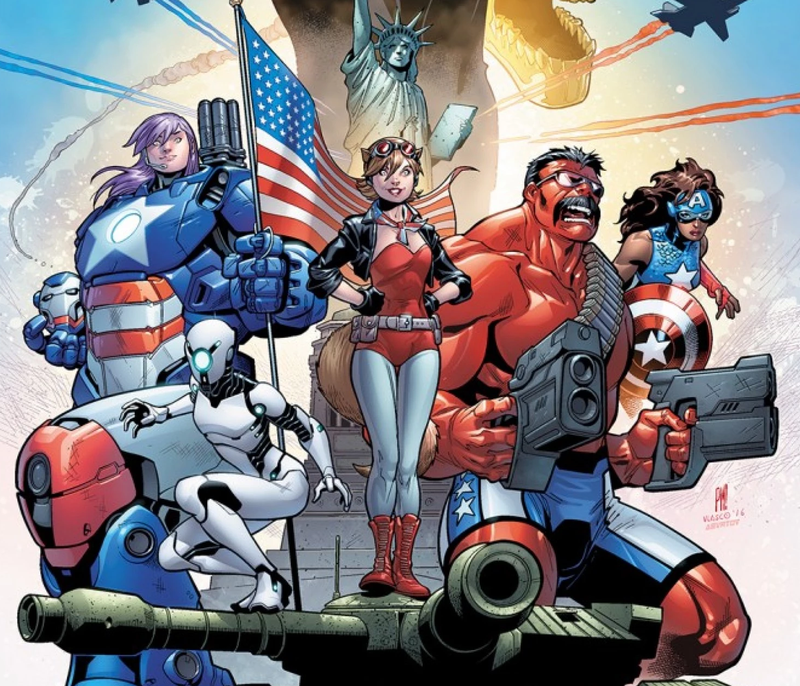 Illustration for article titled Marvel's Next Avengers Team Is Gonna Be as Patriotic as Fuck
