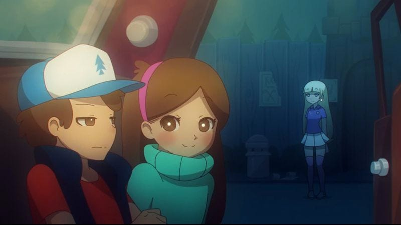 Illustration for article titled A digital artist remakes Gravity Falls as an anime