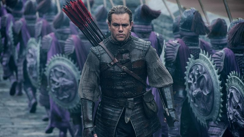 "Illustration for article titled Matt Damon on The Great Wall whitewashing controversy: ""It was a fucking bummer"""