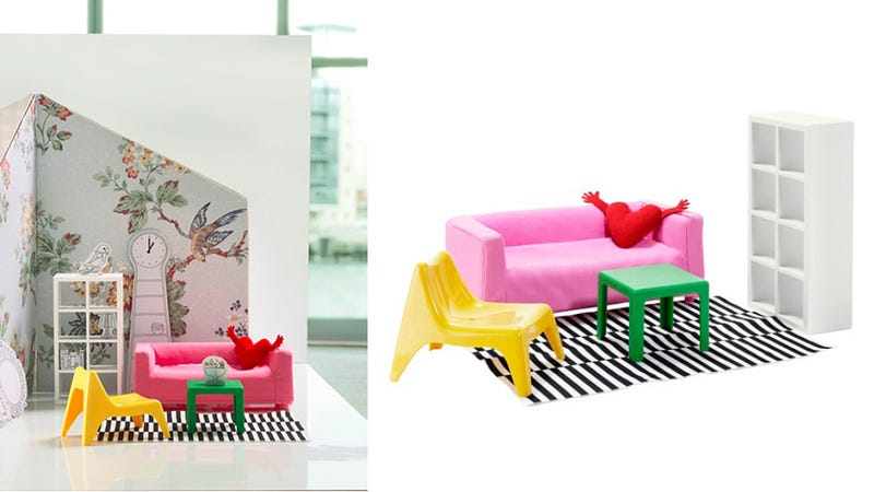 Illustration for article titled Ikea Dollhouse Furniture Is Perfect for Barbie's Drëamhøuse