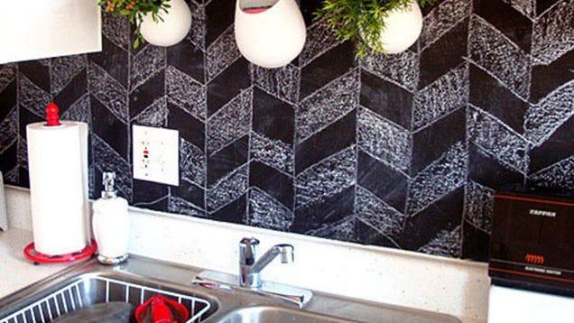 Temporarily cover kitchen backsplash?