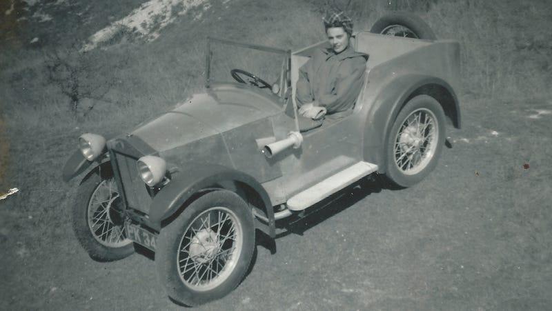 Hazel Chapman in the Lotus Mark I