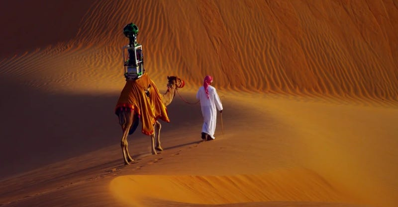 Illustration for article titled Google Strapped a Camera To a Camel To Put The Desert on Street View