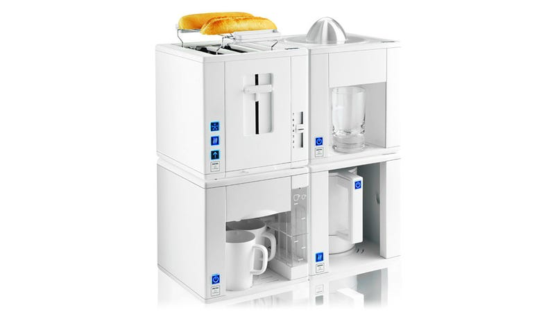 Space saving kitchen appliance cubes fit together like lego - Space saving appliances small kitchens minimalist ...