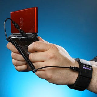 Illustration for article titled ThinkGeek's Universal Wrist Charger Gives Life While On The Move