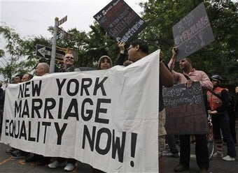 Illustration for article titled Gay Marriage Bill Fails In New York