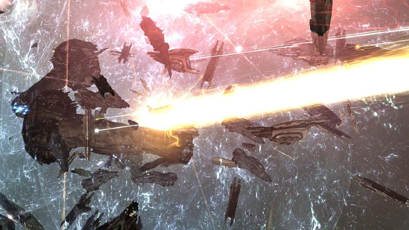 Illustration for article titled Massive EVE Online Battle Destroys Nearly $300,000 Worth of Spaceships