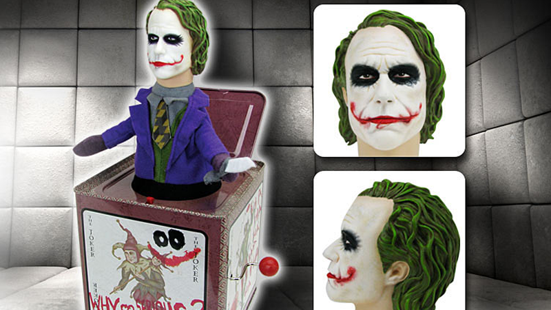 Illustration for article titled The Heath Ledger Joker-in-a-Box Is the Stuff of Nightmares
