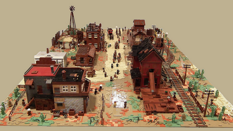Illustration for article titled LEGO Wild West Town Is Huge And Has Everything