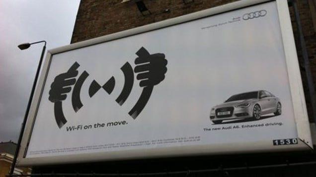 Audi S Hilarious Unintentional Goatse Billboard