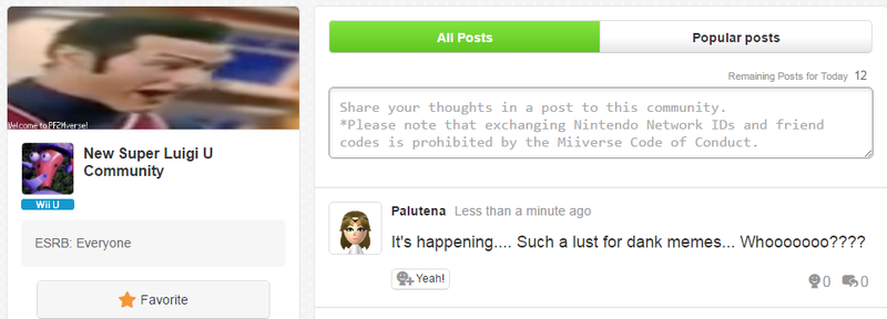 Illustration for article titled Nintendo's Luigi Miiverse Keeps Getting Hacked In Funny Ways