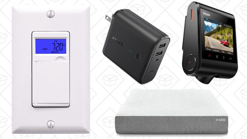 Illustration for article titled Today's Best Deals: Programmable Switches, Memory Foam, Anker Gear, and More