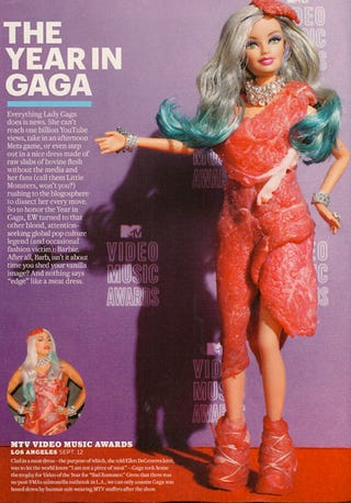 Illustration for article titled Barbie Goes Gaga