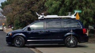 Illustration for article titled ¿Qué está probando Apple en estos coches llenos de sensores y cámaras?