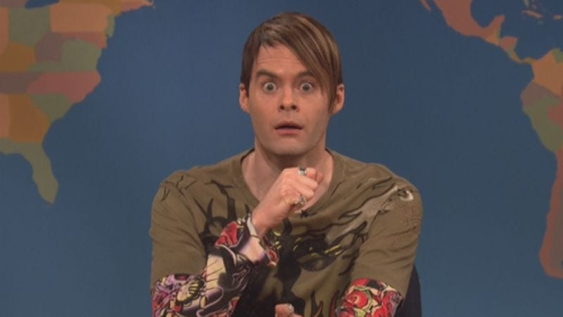 Illustration for article titled It's that thing where Bill Hader is leaving Saturday Night Live this weekend