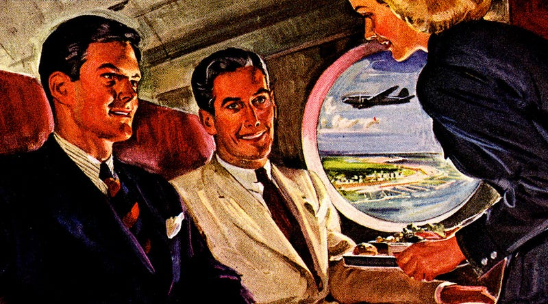 Illustration for article titled The Post-WWII Planes of the Future Had Legroom to Spare