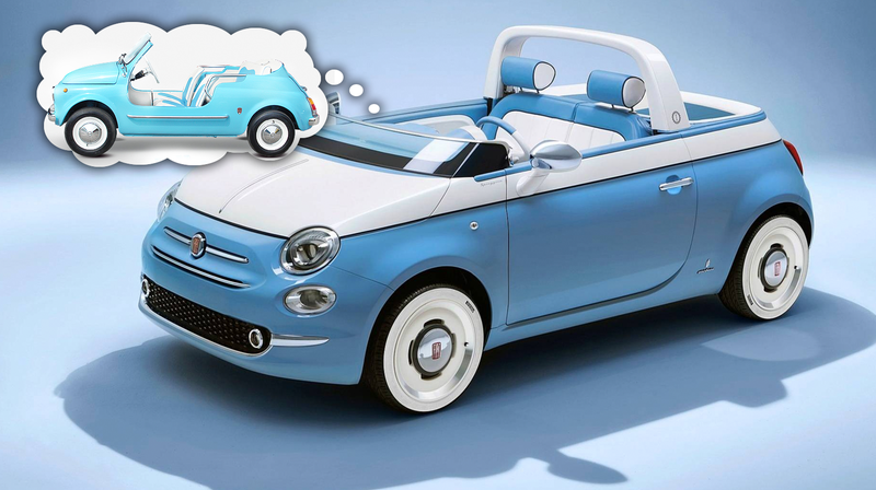 Illustration for article titled Fiat Celebrates The 60th Anniversary Of The Fiat Jolly With This Delightful 500 Convertible