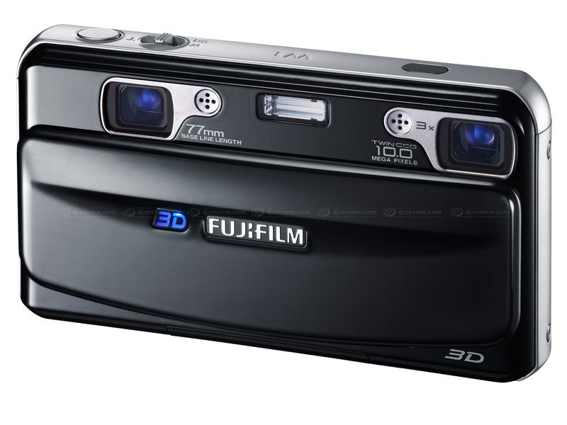Illustration for article titled Smiley Fujifilm 3D Point-and-Shoot Camera Does Video, Laughs at Your Stupid Glasses