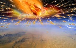 Illustration for article titled Hallan la primera prueba de que un cometa se estrelló contra la Tierra