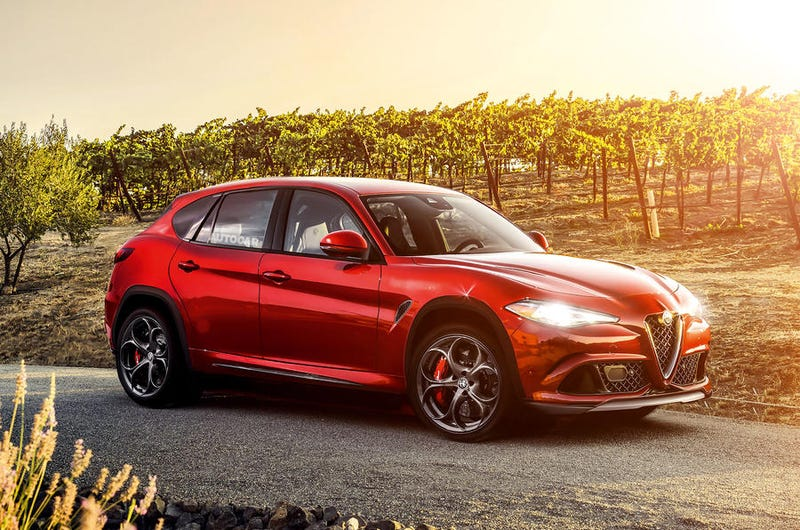 Illustration for article titled Alfa Romeo Stelvio QV (This is NOT It)