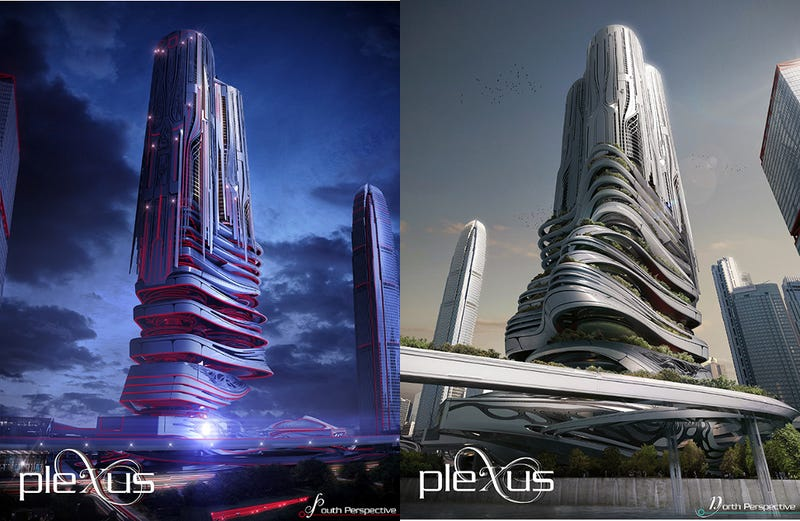 Illustration for article titled Hong Kong's PleXus Tower Looks Like Something Right Out Of Tron