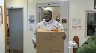 Alstory Simon being released from prison in 2014CBS Chicago