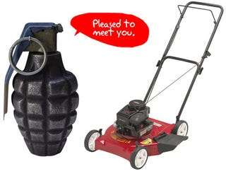 Illustration for article titled Lawn Mower Saves Man's Life From Misplaced Hand Grenade