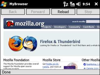 Illustration for article titled Firefox Mobile Alpha Screenshot
