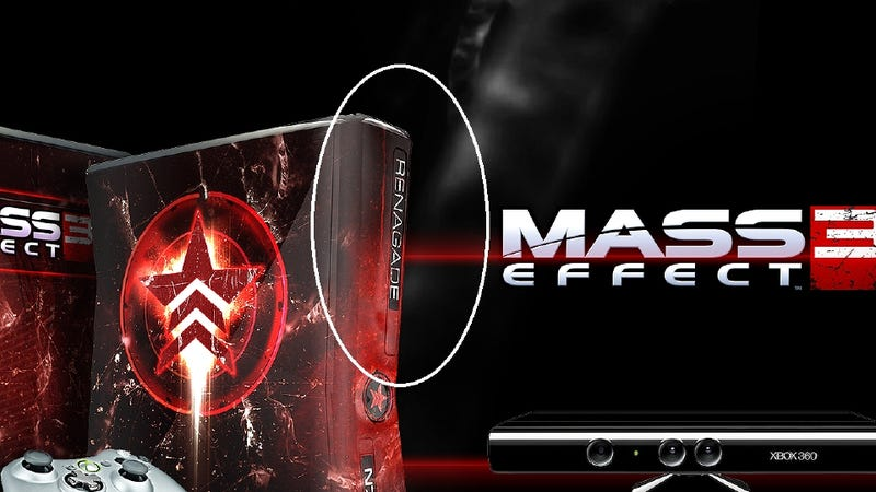 "Illustration for article titled This Mass Effect 3 Misspelled ""Renagade"" Console is Up for Grabs [UPDATE]"