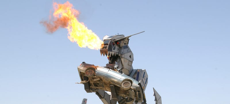 Illustration for article titled Why Yes, I Do Want To Buy This Car/Plane-Eating Robot Dinosaur