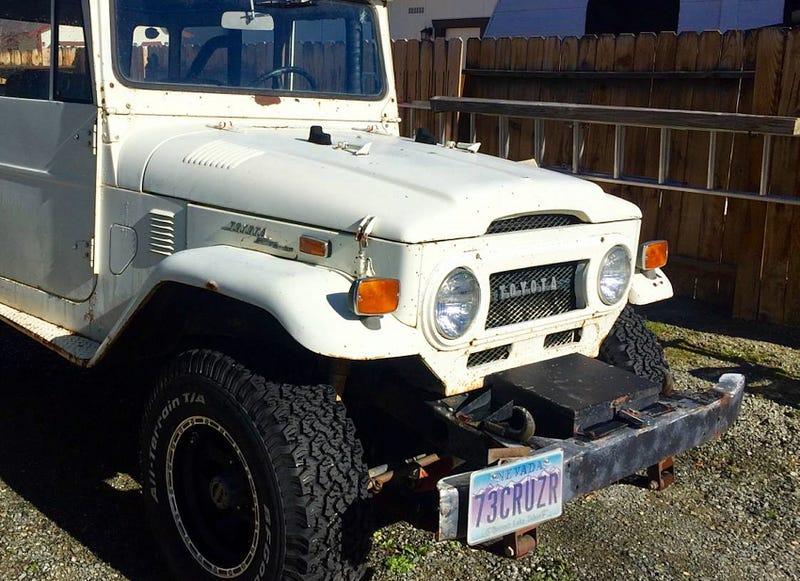 Illustration for article titled For $12,000, This 1973 Toyota Land Cruiser Asks How's Your Tetanus Protection?
