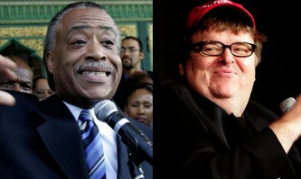 Illustration for article titled Iowa Caucuses Tomorrow! And Al Sharpton And Michael Moore Are...Fat Blowhard Pussies