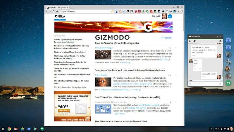 Illustration for article titled Google Hangouts Just Got Way Better on the Desktop