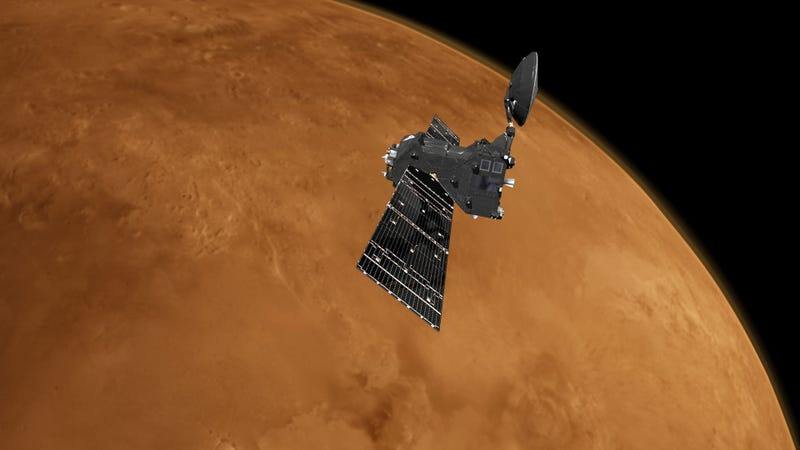Artist's conception of the ExoMars Trace Gas Orbiter.