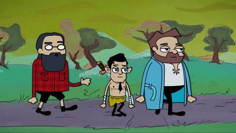 Illustration for article titled Join the adventure in this fan-made animation of Dan Harmon's D&D exploits