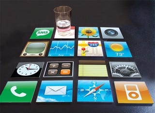 Illustration for article titled iPhone Coasters Convert Any Table into a Jobsonian Device
