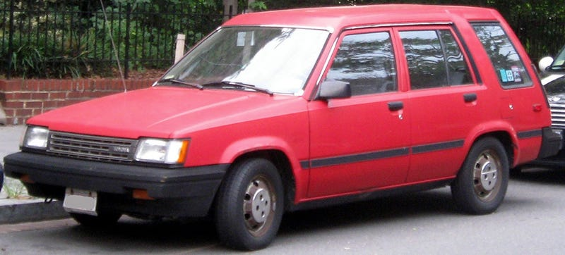 Illustration for article titled You Can Drill Holes Into A Toyota Tercel Wagon 'Without Flinching'