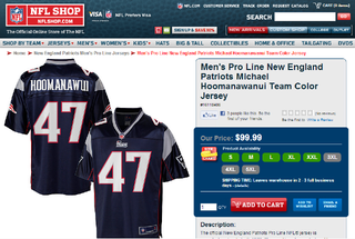 The Nfl Pro Shop Can T Fit Michael Hoomanawanui S Name On His Jersey
